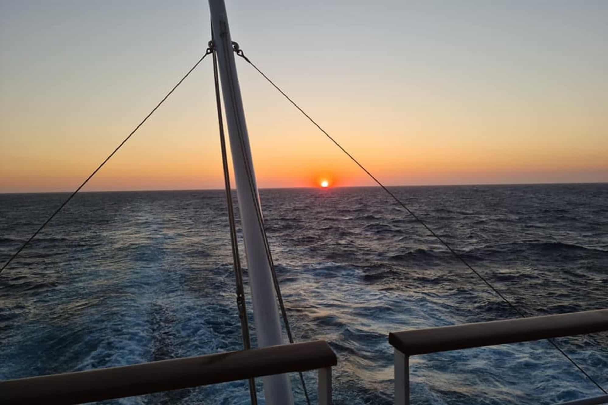 Hünnebeck auf Kreuzfahrt im Mittelmeer